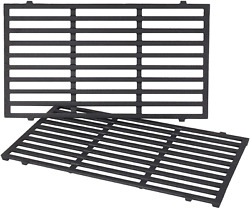 Cast Iron Grill Cooking Grates 17.5 2-pack For Weber Spirit E210 E220 S210 S220
