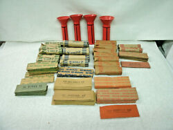 Coin Tubes And Vintage Wrappers--199 Pcs Flat 7 Roll--4 Tubes--abbott Coin