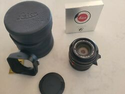 Leica Summicron-m 35mm F/2 Asph E39andnbsp Lens For Leica M With Case Uva Hood