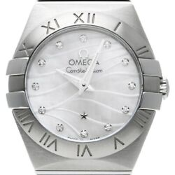 Free Shipping Pre-owned Omega Constellation 123.10.24.60.55.003 White Shell