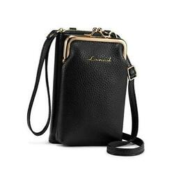 Crossbody Purses for Women Fashion Cell Phone Shoulder Bags Card Holder Black $23.48