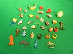 Cracker Jack Lot Of Vintage Miniature Toys And Charms