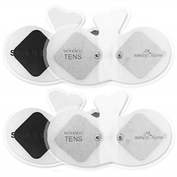 Easy@home Wireless Tens Unit Self Stick Carbon Electrode Pads, 4 Pack 6.5 X 3