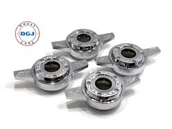 Engraved Zenith 2 Bar Locking Cut Chrome Lowrider Wire Wheel Knock-off Spinners