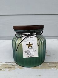 Pier 1 Imports Sea Air Glass Jar Candle 2 Wicks Discontinued New 18 Oz Wood Lid