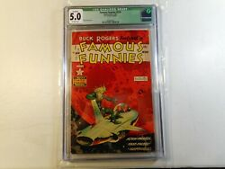 Famous Funnies 214 Cgc 5.0 Green Label 2 Married Pages Frazetta Cover