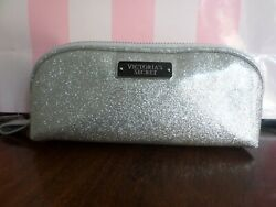New with tags Victoria Secret cosmetic bag color sparkling silver $12.00