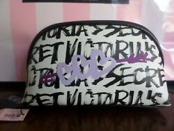 New with tags Victoria Secret cosmetic bag color white black $11.00