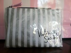 New with tags Victoria Secret cosmetic bag white sparkling silver $14.00