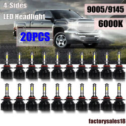 20pcs Whosesale 9145 9005 4-side Led Headlight Conversion Bulb Fog Light 6000k