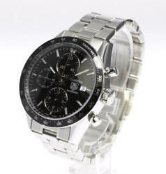 Tag Heuer Carrera Cv201e-0 Stainless Steel Automatic Chronograph Wristwatch
