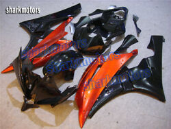 Fairing Abs Injection Plastic Set Fit For 2006 2007 Yzf600 R6 Orange Black Wc3