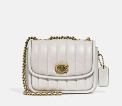 NWT Coach Women#x27;s Madison 16 Quilted Leather Shoulder Bag Color Chalk Small $189.99