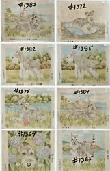 Schnauzer 28 Needlepoint Dog Canvases Designed And Hand Painted Lindy Tilp