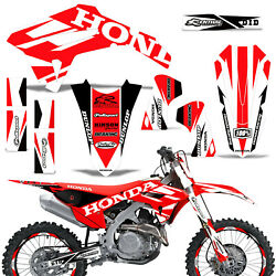 Mx Dirt Bike Graphics Kit Decal Wrap For Honda Crf450r 2021 Boost V2 Red