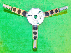 1967 Ford Mustang Fastback Coupe Convertible Orig Steering Wheel Horn Ring Bezel
