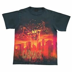 🔥 Vintage 1998 Marvel Carnage Shirt Size Large All Over Print Tie Dye 90and039s 🔥