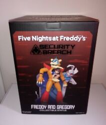 Five Nights At Freddy's Freddy And Gregory Collectible Statue 12 Inches Tall