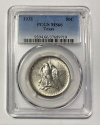 Classic Commemorative Texas Independence Centennial 1938 P Pcgs Ms-66 Texas