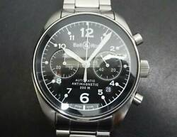 Bell And Ross 126b-m St. Steel Antimagnetic Swiss Chronograph Automatic Wristwatch