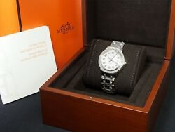 Hermes Paris Clipper Cp2.810 Stainless Steel Automatic Swiss Wristwatch