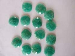 Amazonite Cushion Shape Flat Back Faceted Cut Loose Gemstones Pair 16mm To 20mm