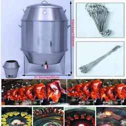 New Barbecue Duck Grill Roast Baking Roaster Carbon Cooking Stainless Steel Us
