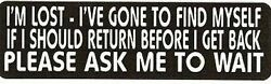 Motorcycle Sticker For Helmets Or Toolbox 608 Iand039m Lost - Iand039ve Gone To Find Myse