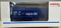 Marklin 1992 Magazine Car. 84693 Covered Coil Car With Paper Rolls. Limited