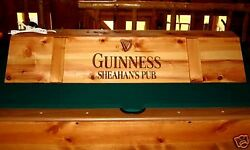 New Custom Guinness Pool Table Light And Cue Rack Combo
