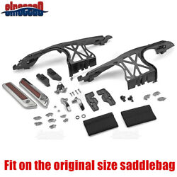 One Touch Opening Saddlebag Latch Hardware Cover Hinge For Harley Touring 14-21