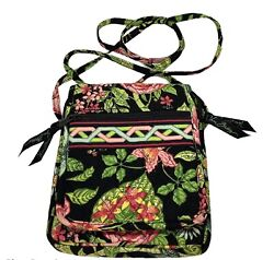 Vera Bradley Mini Hipster Floral Green Women's Crossbody Purse Organizer $15.00