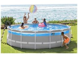 Intex 16ft X 48in Prism Frame Clearview Premium Pool Set. Local Delivery Only
