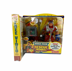 Fisher Price Rescue Heroes Matt Medic Voice Tech With Vhs Video New Unopened