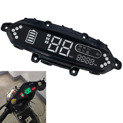48v-72v Universal Electric Bicycle Scooter Speedometer Odometer Led Dash Display