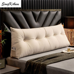 Modern Long Bedside Pillows Filling Washable Pillow Single Double Home Cushion