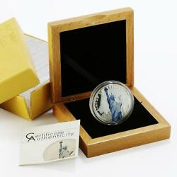 Palau 5 Dollars World Of Wonders Series Statue Of Liberty Proof Silver Coin 2010
