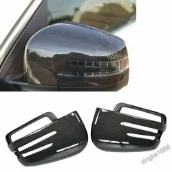 Fit Mercedes Benz W463 G500 W166 Ml350 Gl350 2pcs Car Carbon Mirror Covers Cap G