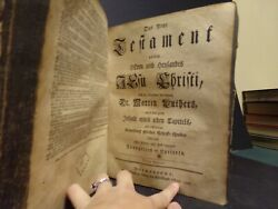 1776 German N T By C. Saur Bible Rough Condition See Pics For Details=colonial