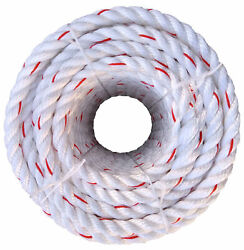 Ateret Twisted 3 Strand Poly Draron Rope I 1-1/4 Inch X 600 Feet