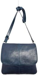 Latico Leathers Jamie Blue Authentic Leather Handcrafted Crossbody Bag
