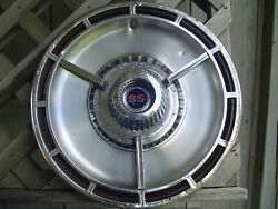 One Vintage 1964 64 Chevrolet Chevy Impala Chevelle Ss Hubcap Wheel Cover