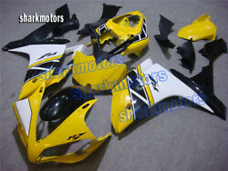 Fairing Yellow White Black Injection Fit For Yamaha 2007-2008 Yzf R1 Abs Fa8