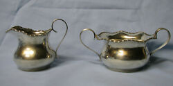 Shreve Crump And Low Co. Sterling Sugar And Creamer