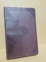 Holy Bible English Standard Version Crossway Embossed Brown Faux Leather Cover