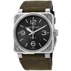 Bell And Ross Automatic Anthracite Grey Dial Men's Watch Br0392-gc3-st/sca