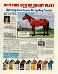 1958 ORIGINAL KENTUCKY CLUB PIPE MIX ANNUAL DERBY DAY CONTEST MAGAZINE AD