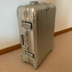Rimowa Topaz 2wheels Trolley Suitcase Luggage Silver H55cm 21 32l Germany Made