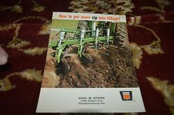 Oliver Tractor Tillage Equipment For 1968 Brochure Cgpa