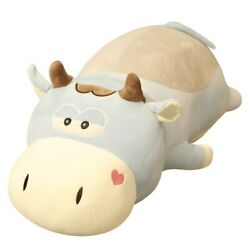 50-85cm Giant Size Lying Cows Plush Toy Stuffed Animal Cattle Kid Toys For Child